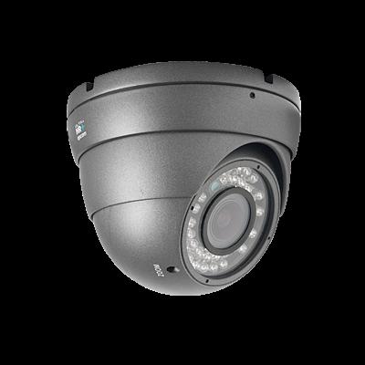 HRE700V Cámara Eyeball Antivandalismo IR Varifocal de 720 TVL Día/Noche Real para Exterior.