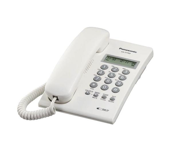 Teléfono 2 líneas LCD, 30 CH, Call ID, color blanco (unilínea).